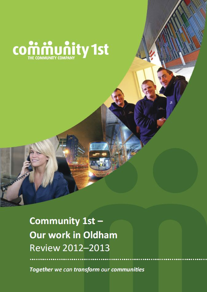 Community 1st Oldham Annual Review Report 2012-2013 | Community ...